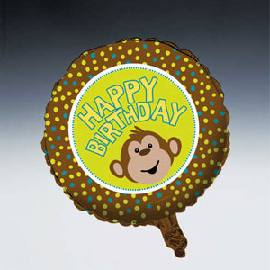 Monkeyin' Around Metallic Balloon