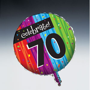 Celebrate 70 Balloon - Metallic