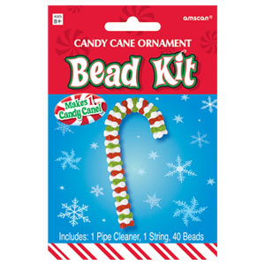 Candy Cane Bead Ornament Kit- 42pc