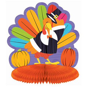 Fun Turkey Honeycomb Centerpiece- 10 Inch