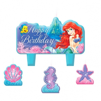 Disney Ariel Birthday Candle CaKe Set