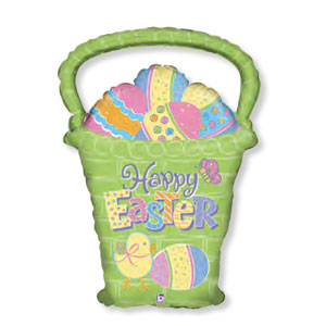 Easter Egg Basket Balloon - 28 Inch