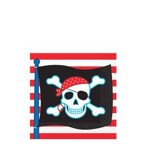 Pirate Party Beverage Napkins- 16ct