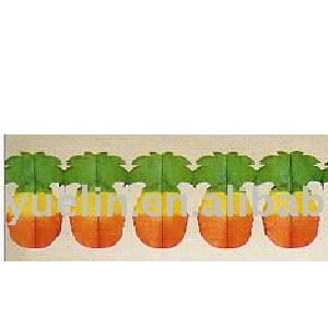 Multicolor Pineapple Paper Garland - 12ft