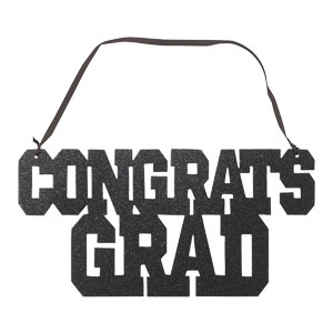 Congrats Grad Sign with Ribbon