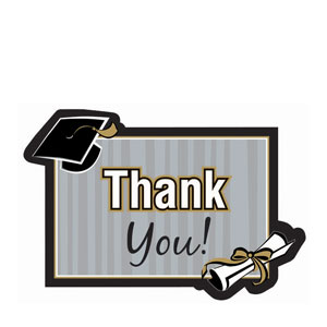 Class Act Diecut Thank You Cards- 20ct