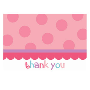 Sweet Little Cupcake Thank You Card - 20ct