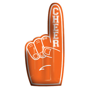 Inflatable Finger -  Orange