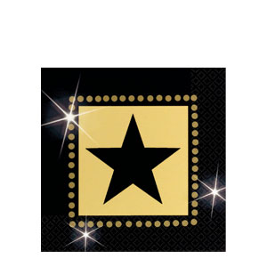 Star Attraction Beverage Napkins- 16ct