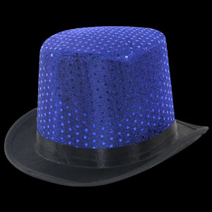 Sequin Top Hats - Blue