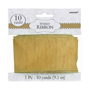 Gold Wired Ribbon- 300ft