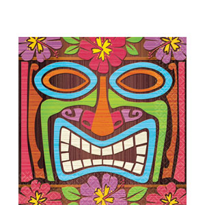 Tiki Time Luncheon Napkins- 16ct