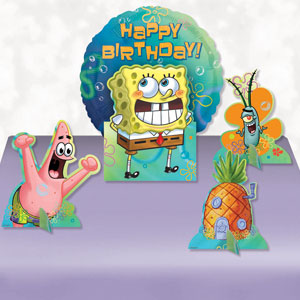 SpongeBob Balloon Centerpiece- 5pc