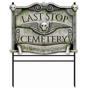 Cemetery Sign 30 in.