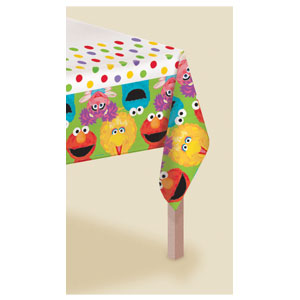 Sesame Street 1st Birthday Plastic Tablecover - 108in