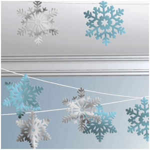 Snowflake String Ceiling Decoration- 100ft