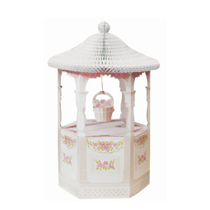 Ribbons and Roses Wishing Well Centerpiece- 30n