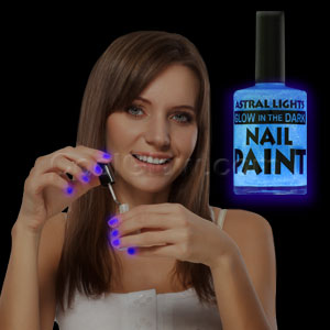 Glow in the Dark Nail Polish - Blue