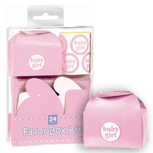 Baby Shower Favor Box Kit - Pink