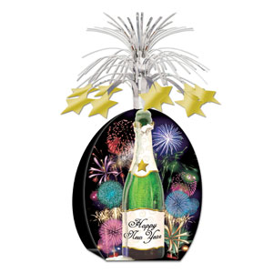 Happy New Year Champagne Centerpiece - 15in