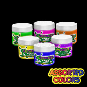 Glominex™ Blacklight UV Reactive Paint Assorted 2 oz Jars - 6