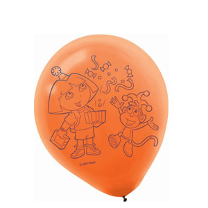 Dora Latex Balloons- 6ct