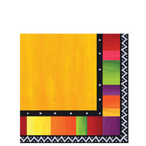 Fiesta Stripes Luncheon Napkins- 16ct