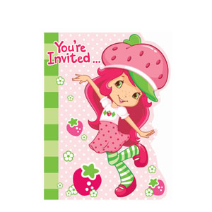 Strawberry Shortcake Invitations- 8ct