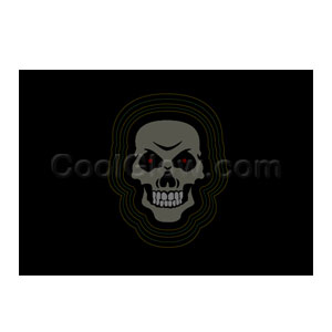 Fun Central C962 LED Light Up Sound Activated Patch - Skull