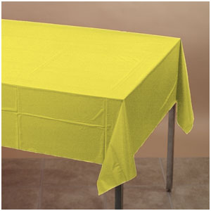 Mimosa Yellow Plastic Tablecover
