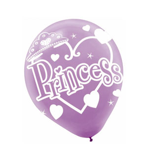 Princess Latex Balloons - 6ct