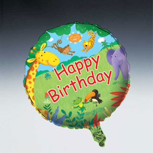 Jungle Buddies Metallic Balloon