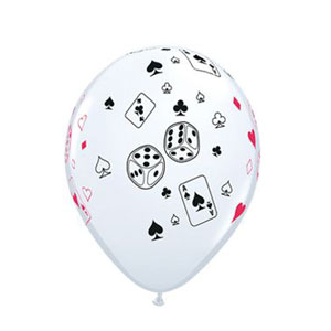 Card and Dice Ballons - 11in