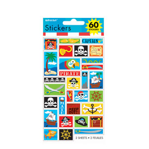 Pirate Sticker Sheets - 2ct