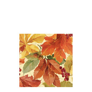 Elegant Leaves Beverage Napkins