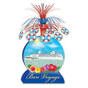 Cruise Ship Centerpiece- 13in