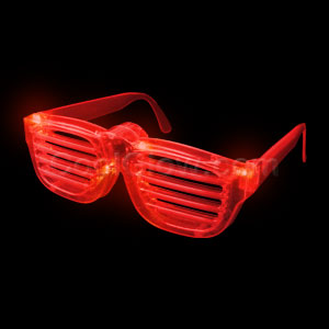 LED Rock Star Shutter Shades - Red