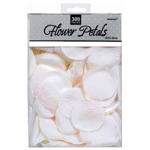Rose Flower Petals - White