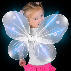 Fun Central AI613 LED Light Up Butterfly Wings - White