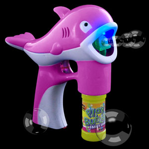 LED Bubble Gun - Pink Dolphin