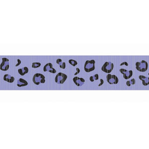 Purple Leopard Print Crepe Paper - 81ft