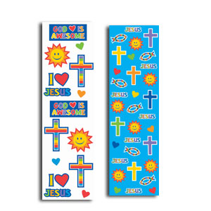 Religious Strip Sticker Favor- 8ct