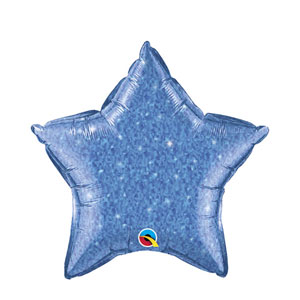 Blue Crystalgraphic Star Balloon - 20 inch