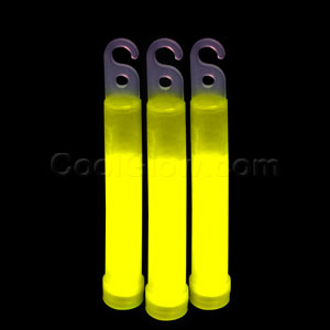 4 Inch Premium Glow Sticks - Yellow