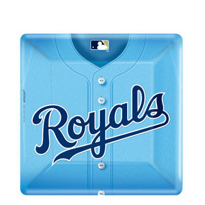 Kansas City Royals Square 10 Inch Plates- 18ct