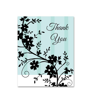 Black Satin Thank You Cards