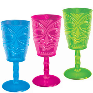 Tiki Face 10 oz. Wine Glass - Assorted