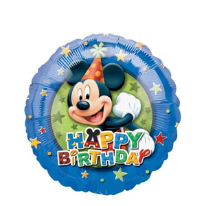 Mickey Birthday Stars Balloon- 18 Inch