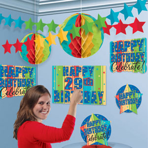 A Year To Celebrate Add-An-Age Decorating Kit- 38pc