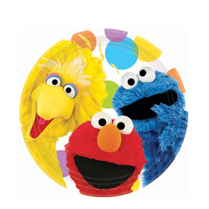 Sesame Street Party 9 Inch Plates- 8ct